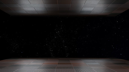 Space environment, ready for comp of your characters 3D renderin