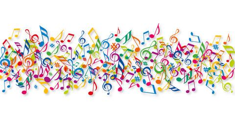 Notes de musique - Musique - Couleurs
