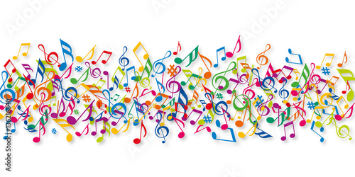 "Turbo Notes de musique - Musique - Couleurs"" Stock image and royalty  BO29"