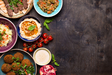 Arabic dishes background