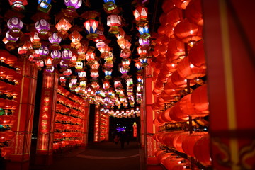Lanterns on the Lantern Festival of China. Lantern Festival is one of the most important Chinese festival.