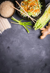 Wall Mural - Asian cooking ingredients