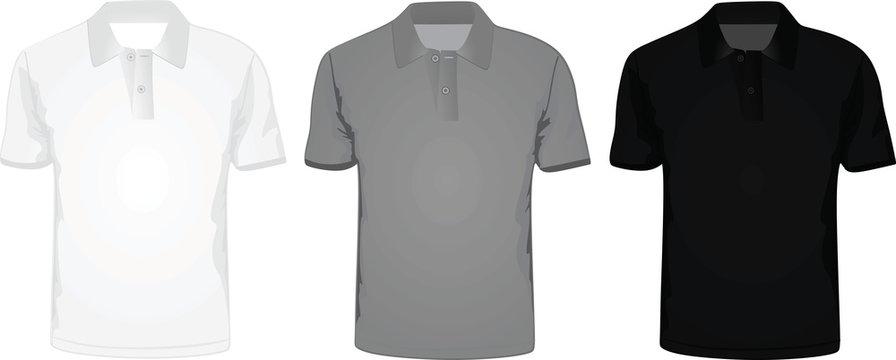 Man polo t-shirt vector