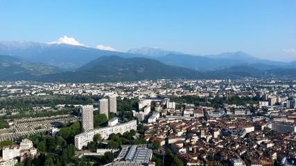 Vue aérienne de Grenoble