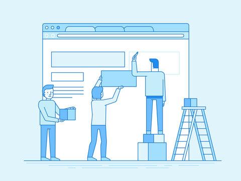 Web design and user interface development concept