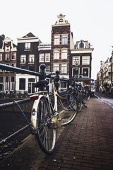 Old bicycles of Amsterdam