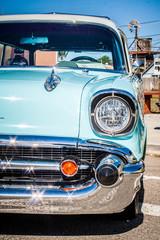 Fototapete - Aqua 57 Chevy