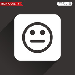 Bad smile icon. Button with bad smile icon. Modern UI vector.