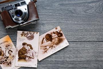 Carte postales anciennes pour la Saint Valentin et les amoureux