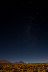 Starry night over the Atacama desert