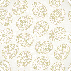 Seamless pattern with Happy Easter eggs.