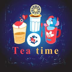 Stock vector Tea time