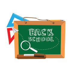 Back to school graphic design, Vector illustration