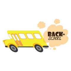 Back to school graphic design, Vector illustration
