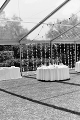 Special event celebrating with catering arrangement background