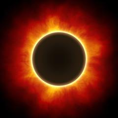 Sun eclipse with corona