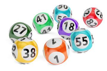 lottery balls closeup, 3D rendering