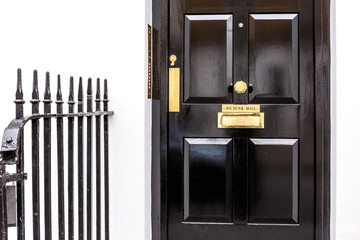 Door entrance in rich area of Chiswick