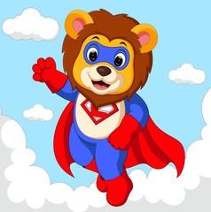 lion superhero cartoon