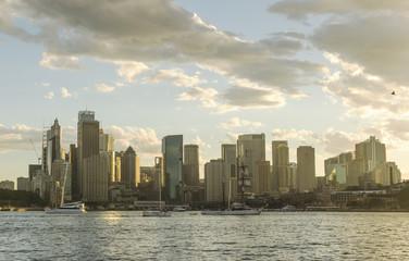 Australia Sydney CBD panoramic view from Kirribilli before sunset