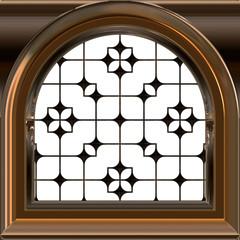 Small dormer window wih sash - 3D illustration