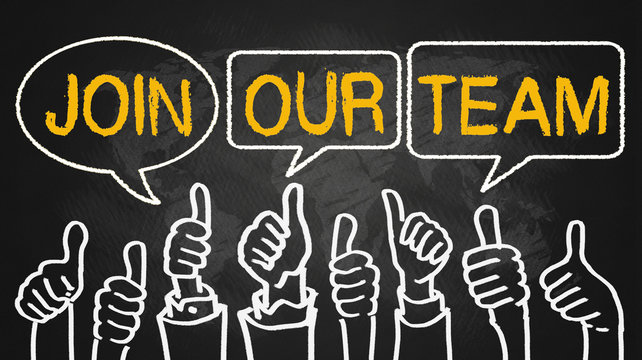 join our team.thumbs up on blackboard