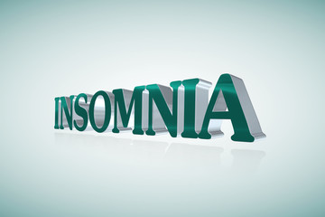 Insomnia lettering - 3D illustration
