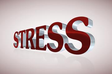 Stress lettering - 3D illustration