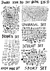 MEGA set of doodles. Super collection of arrow ,business and fin