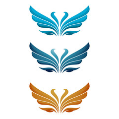 Fly Bird Wings Elegant Symbol Illustration
