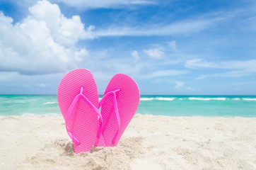 Valentine's day background on the Miami beach