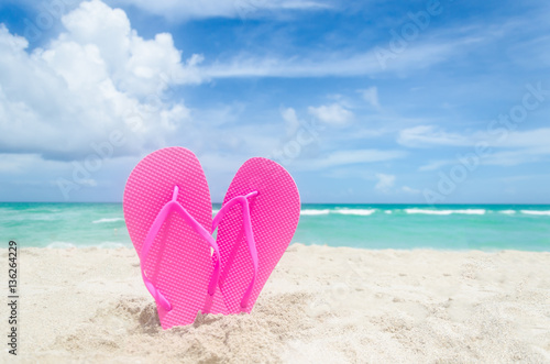 Valentine S Day Background On The Miami Beach Stock Photo And
