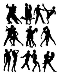 Dance People Silhouettes, art vector design