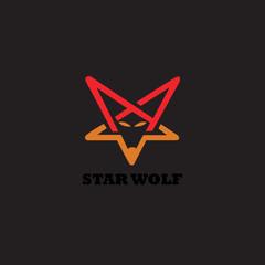 star wolf logo design