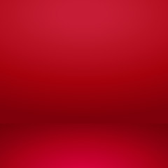 Vector of red empty studio room background, template mock up for