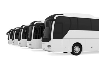 Tourist Buses Isolated