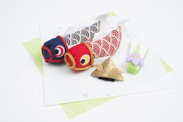菖蒲のゼリー菓子と鯉のぼり
