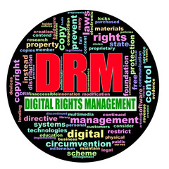 Circular wordcloud drm digital rights management