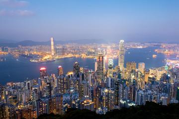 Hong Kong Skyline at Dusk..