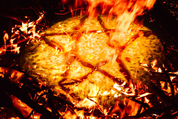Satanic food symbolism