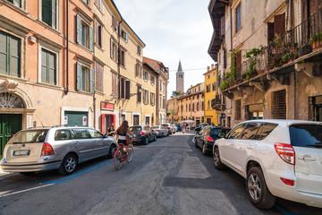 One of the streets of Verona, Veneto region, Italy.
