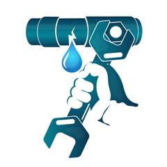 Repair of water pipe