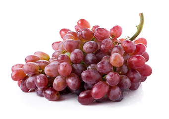 red seedless grapes isolated on white background Fototapete
