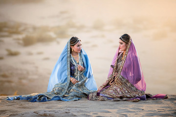 portrait of  beautiful Arabian girls