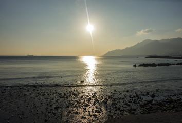 tramonto sulla baia dei gabbiani