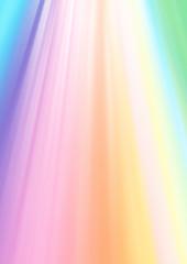 天からの七色の柔らかな光