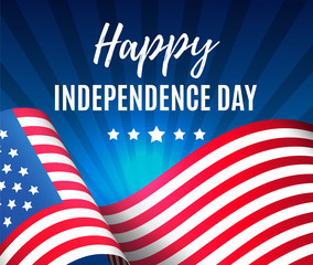 Independence day 4 th july. Happy independence day of USA , Fourth of July . Vector illustration. EPS 10