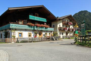 Bauernhäuser in Lofer Ortsteil Au - Salzburg / Österreich