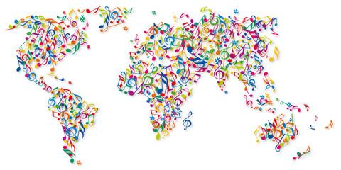 Musique - Fête de la Musique - Musique du monde - Planisphère