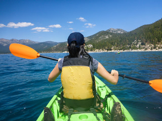 Kayaking at Lake Tahoe
